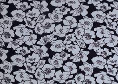 Stoff Blumen - 542 Jersey Blütenzauber Blau Weiß - ein Designerstück von my-kati…