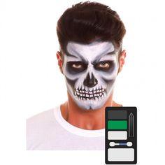 Paleta Maquillaje de Esqueleto Halloween #maquillajehalloween #efectosespeciales Halloween Make, Halloween Face Makeup, Maquillaje Halloween, Logos, Google, Products, Makeup Kit, Makeup Pallets, Halloween Night