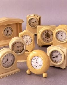 Old celluloid clocks