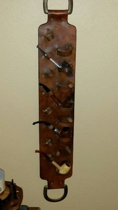 Leather Tobacco Pipe Holder Rack | eBay