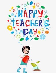 Happy Teacher S Day In English Green Leaves Floating Flowers Embellishment Cartoon Characters Png Transparent Image And Clipart For Free Download Teachers Day Happy Teachers Day Teacher Appreciation Quotes