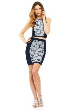crop top + skirt / rebecca minkoff