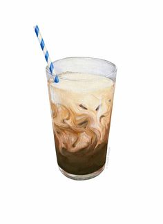Iced Coffee Illustration