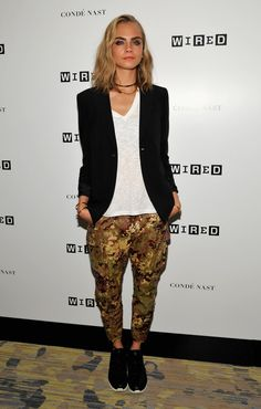 Best Dressed: Cara Delevingne in a Badass Suit at WIRED Cafe during Comic-Con International 2016.