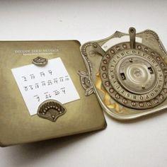Custom Announcement Card - Secret Message Decoder Pop Up Paper Toy Paper Toy, Paper Puppets, Kirigami, Gadgets Steampunk, Creative Wedding Invitations, Wedding Stationary, Steampunk Wedding, Scrapbooking, Message Card