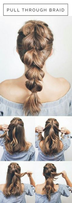 Beautiful braided hair with dimension