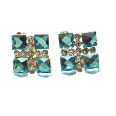 "Spotted while shopping on Poshmark: ""Aqua blue crystal earrings""! #poshmark #fashion #shopping #style #Jewelry"
