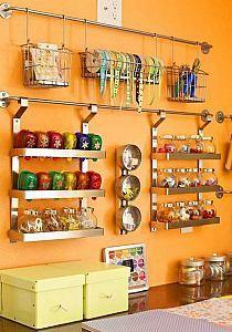 Find Here, 35 Stunning Craft Room Furniture Ideas Craft Organization, Craft Storage, Organizing Ideas, Storage Ideas, Ikea, House Cleaning Checklist, Craft Room Design, Ideas Para Organizar, Declutter Your Home