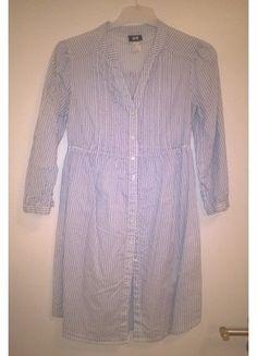 Modro-bílá proužkovaná košile/tunika