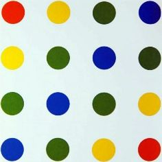Untitled, 1954. François Morellet (b1926), Lunatique compact #3, 1996. François Morellet is a contemporary French painter, engraver, sculptor and light artist. His early work prefigured Minimal art and Conceptual art, and he has played an important role in the development of geometrical abstract art.