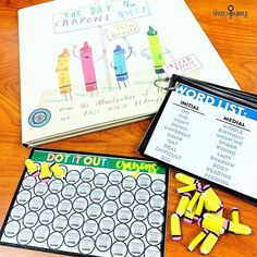 You all know my love of literacy based therapy. Today we are using The Day The Crayons Quit and the Crayon Theme Card from my Dot It Out! Articulation to focus on our speech and make sure we get in all the trials we can!⁣-⁣Pair a theme card with book that has a coordinating theme for an easy way to bring literature into your session.⁣ #slp #schoolslp #speechtherapy