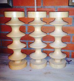 Hoge houten kaarsen standaards CHECK