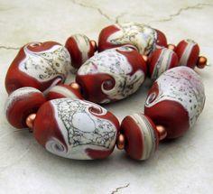 Love this!! Kinda rustic and definitely artsy organic!! Lampwork Glass Beads