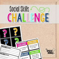 Social skills can be hard for students to put into practice. Use this easy activity to help your kids start applying the skills you have been focusing on by giving them achievable 'challenges'! ***Be sure to checkout the animated preview for more pictures!*** What's Included - 4 title options...