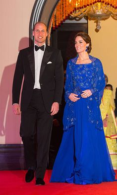 Kate Middleton stuns in Jenny Packham as she and Prince William attend Bollywood gala