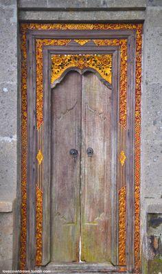 Old, Ornate doors, Ubud, Bali Cool Doors, Unique Doors, The Doors, Windows And Doors, Grand Entrance, Entrance Doors, Doorway, Knobs And Knockers, Door Knobs
