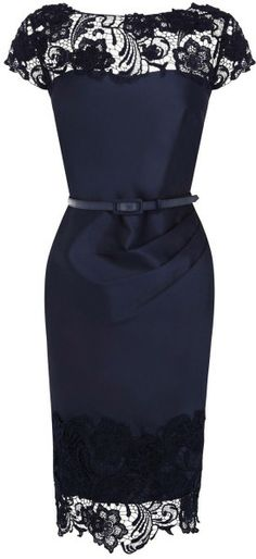 Coast Luma Duchess Satin Dress in Blue (Navy)