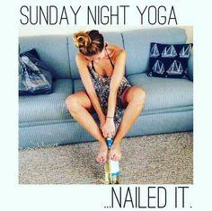 wine yoga.