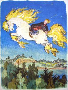 "https://flic.kr/p/8fffaU | Illustration by Nikolai Kochergin | ""The little humpbacked horse"" by Pyotr Yershov"