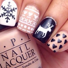 Instagram media by gabbysnailart - Christmas sweater nails inspired by @just1nail