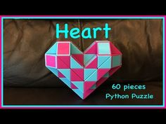 ▶ Smiggle Python Puzzle or Magic Ruler Twisty Snake Puzzle 60:How to Make a 3D Heart Shape - YouTube