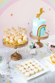 Floral Rainbow Glam Unicorn Birthday Party on Kara's Party Ideas   KarasPartyIdeas.com (8)