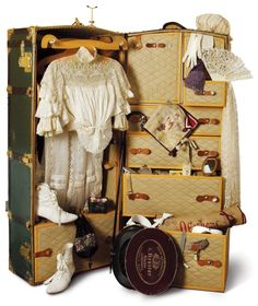 Castle Hill - Miniatures  several travel trunks old style shown