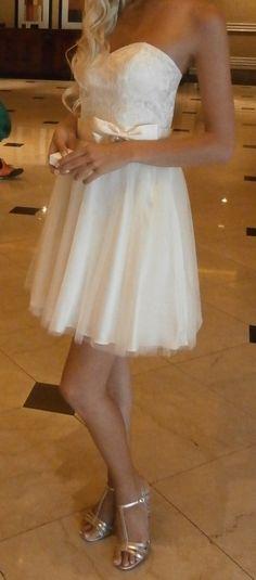Robe de mariée / cérémonie courte T36 - Rhin (Haut)