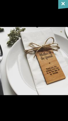 Honestly love the idea of just having these sitting at the tables as a surprise. Very meaningful and sentimental found on www.notonthehighstreet.com
