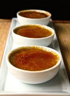 Creme Brulee 3 Ways: Vanilla Bean, Salted Caramel, Cafe au Lait (vegan)