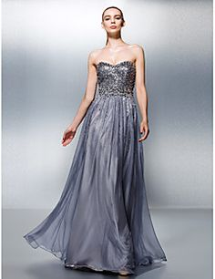 A-Line+Sweetheart+Floor+Length+Tencel+Prom+Dress+with+Beading+Sequins+by+TS+Couture®+–+USD+$+345.00