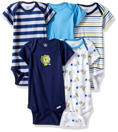 Gerber Baby Boys 5 Pack Onesies Safari 03 Months * Check out the image by visiting the link.-It is an affiliate link to Amazon. #BabyClothing