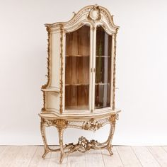 Antique Italian Rococo Style Bombe Cupboard, c. 1870