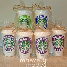 Personalized Reusable Starbucks Cup Gift Name by maevelymade