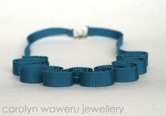 carolyn waweru jewellery - Blue grosgrain necklace