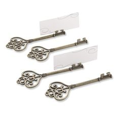 Ever After High table decoration - Victorian key place holders, small