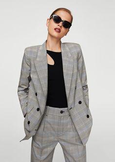 Prince of wales blazer - Women Burgandy Blazer, Fall Blazer, Colored Blazer, Blazer Outfits, Casual Outfits, Fashion Outfits, Women's Fashion, Fashion Tips, Fashion Trends