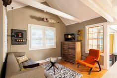 Small Renovation: Modern Provincetown Cottage modern-living-room