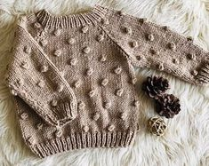 Popcorn Sweater, Toddler Boy, Baby Boy S - Diy Crafts Baby Girl Sweaters, Toddler Sweater, Boys Sweaters, Chunky Sweaters, Knitting For Kids, Baby Knitting Patterns, Toddler Gifts, Toddler Boys, Toddler Chores