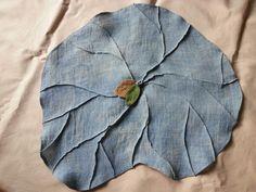 쪽염색한  삼베로 만든 삼베다포