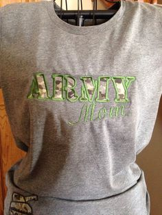 Army MOM tee  Applique Army shirt  Army Tanker by PinkPosieCouture