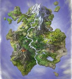 For my game portfolio. I've been busy making fantasy maps. I tend to go in to detail to soon while its better to really complete each step from design to render. I did so much extra work that i did. Fantasy Map Making, Fantasy City Map, Fantasy World Map, Fantasy Island, Fantasy Places, Fantasy Rpg, Dnd World Map, Rpg World, Imaginary Maps