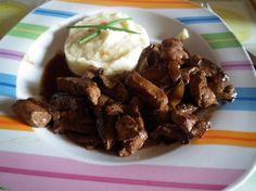 Recette - Foie de boeuf aux oignons caramélisés et Montbazillac | 750g