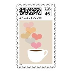 Coffee Love Postage Stamp Design by iheartcoffee