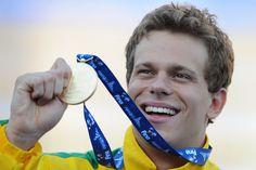 Cesar Cielo - Brazilian champion swimming.