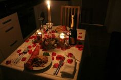 I've always wanted a candlelight dinner and I think the only way I'll get it is if I do it!