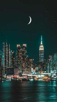 New York Wallpaper, City Wallpaper, Seattle Wallpaper, Black Wallpaper, City Aesthetic, Travel Aesthetic, Night Sky Wallpaper, Minimal Wallpaper, Concrete Jungle