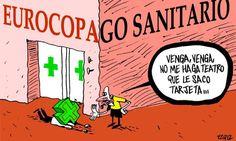 EUROCOPAgo sanitario #nosrobanlacartera #humor #recortes