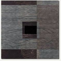 Vernon Grotto Hand-Knotted Gray Area Rug