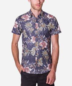 Bringing that #Hawaiian #Look for 2015. Buttons Downs don't get much better than this !  Short #Sleeve All Over #Print Button Down Shirt #Fabric Content: 100% #Cotton Made In China  #Fashion #Menswear #Style #Shop #Shopping #Top #Collection #Label #Brand #Designer